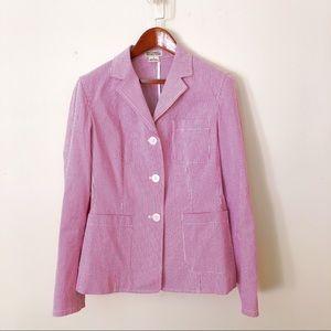 Michael Kors pink white striped blazer vintage